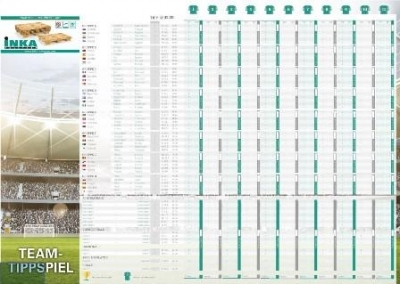 INKA Fußball-Wandplaner 2018